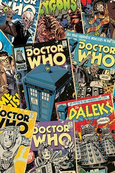 Doctor Who - Comic Montage Poster, Art Print
