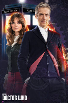 Doctor Who - Doctor and Clara Poster, Art Print
