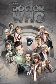 DOCTOR WHO - doctors through time Poster, Art Print
