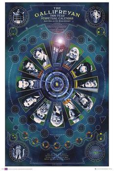DOCTOR WHO - gallifreyan calendar Poster, Art Print
