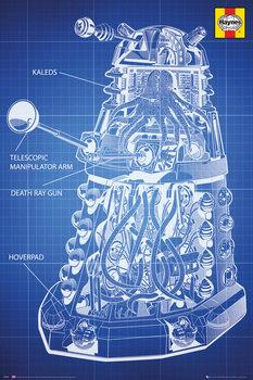 Doctor Who - Haynes Dalek Blueprint Poster, Art Print
