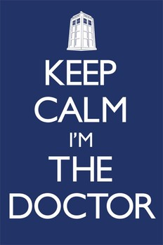 Doctor Who - Keep calm Poster, Art Print