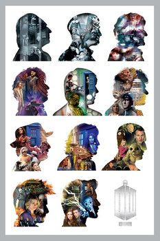DOCTOR WHO - silhouette posters | art prints