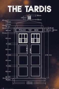 Doctor Who - Tardis Plans Poster, Art Print