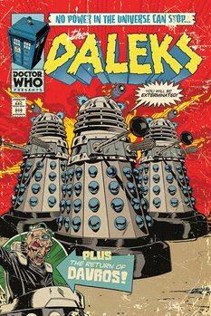 Doctor Who - The Daleks Comic Poster, Art Print