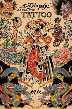 Ed Hardy - japanese tattoo Poster, Art Print