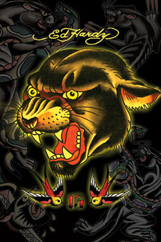 Ed Hardy - panther 13 Poster, Art Print