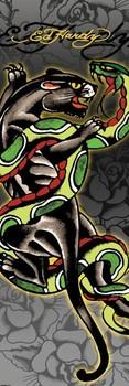 Ed Hardy - panther & snake Poster, Art Print