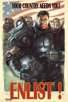 Fallout 4 - Enlist Poster, Art Print