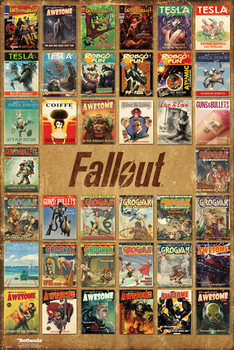 Fallout 4 - Magazine Compilation Poster, Art Print