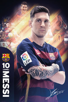 FC Barcelona - Messi 15/16 Poster, Art Print