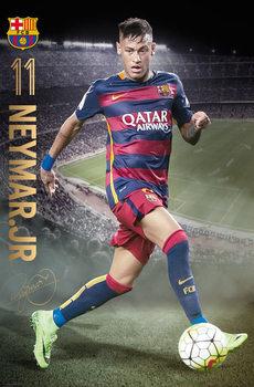 FC Barcelona - Neymar Action 15/16 Poster, Art Print