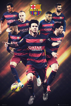 FC Barcelona - Players 15/16 Poster, Art Print