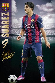 FC Barcelona - Suarez 14/15 Poster, Art Print