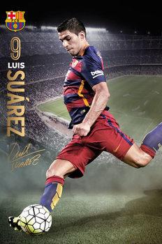 FC Barcelona - Suarez Action 15/16 Poster, Art Print