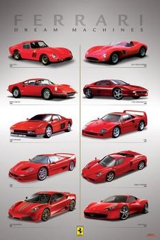 Ferrari - dream machines Poster, Art Print