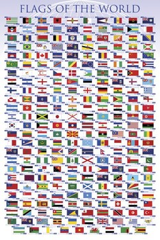 Flags of the world Poster, Art Print