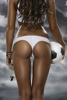 FOOTBALL GIRLS - bum posters | art prints
