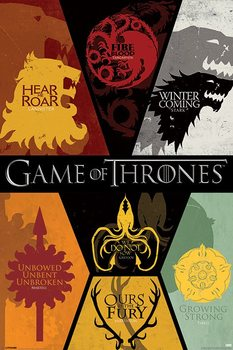 GAME OF THRONES - sigils Poster, Art Print
