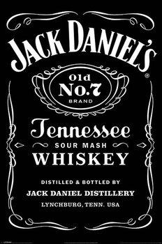 Jack Daniels - Label Poster, Art Print
