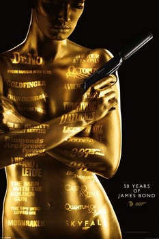 JAMES BOND 007 - 50th anniversary posters | art prints