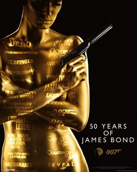 JAMES BOND 007 – 50th ANNIVERSARY  posters | art prints