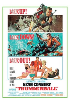 JAMES BOND 007 - thunderball posters | art prints