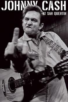 Johnny Cash - san quentin portrait Poster, Art Print