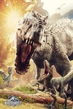 Jurassic World - Attack Poster, Art Print