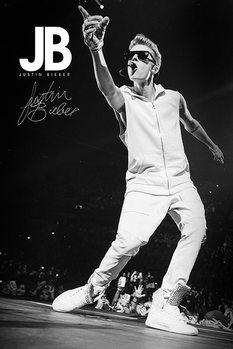 Justin Bieber (B&W) Poster, Art Print