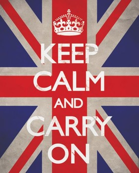 Keep calm & carry on - union Poster, Art Print