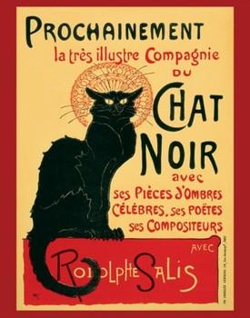 Le Chat noir Poster, Art Print