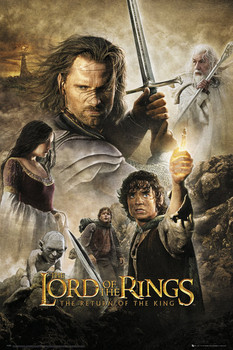 LORD OF THE RINGS - return of the king one sheet Poster, Art Print