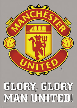 MANCHESTER UNITED - club crest posters | art prints