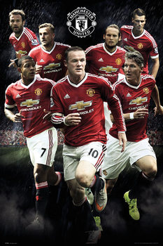 Manchester United FC - Players 15/16 Poster, Art Print