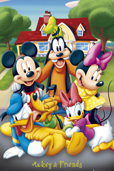 MICKEY MOUSE - with friends Poster, Art Print