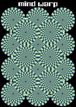 Mind warp - circles Poster, Art Print