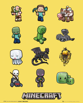 Minecraft - Characters Poster, Art Print