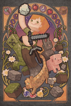 Minecraft - Sword Poster, Art Print