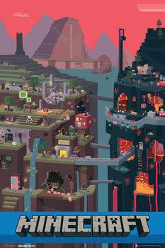 Minecraft - world  Poster, Art Print
