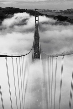 MISTY MORNING - golden gate/san francisco posters | art prints