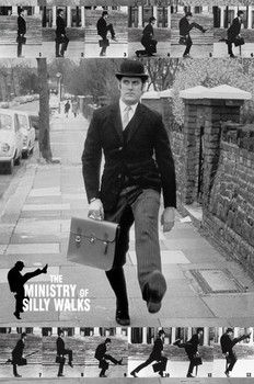 Monty Python - the ministry of silly walks Poster, Art Print