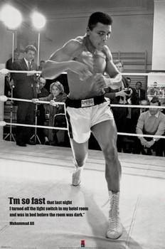 Muhammad Ali - fast Poster, Art Print