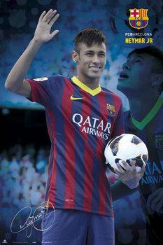 Neymar JR. - fc Barcelona 2013 Poster, Art Print