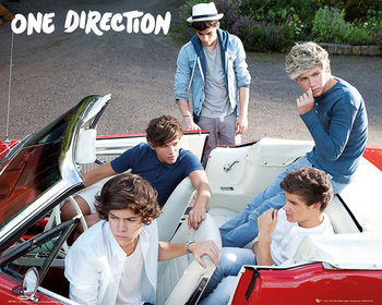 One Direction - car Poster, Art Print
