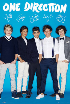 ONE DIRECTION - signature posters | art prints