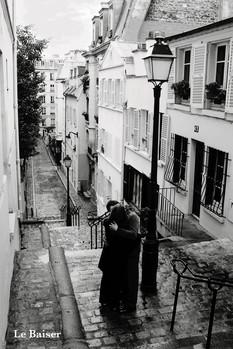 Paris - le baiser Poster, Art Print