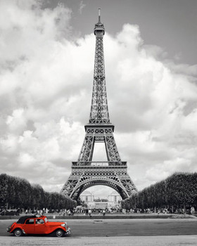 PARIS - red car posters | art prints