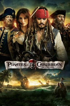 PIRATES OF THE CARIBBEAN 4 - one sheet posters | art prints