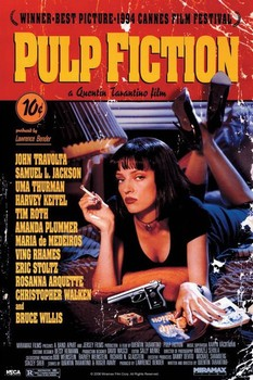 PULP FICTION - cover Poster, Art Print